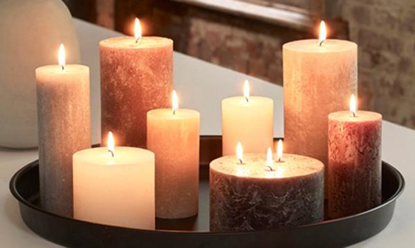 Rustiek kaarsen voor de Herfst