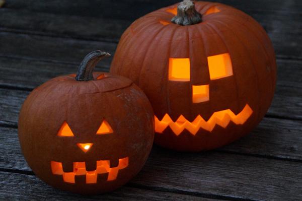 Halloween en kaarsen