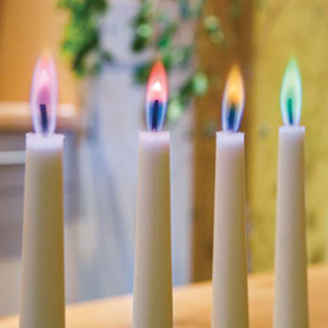 Gekleurde vlam kaarsen