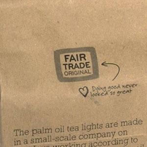 Fairtrade waxinelichtjes