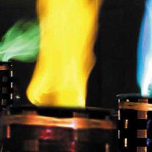 Fakkels met gekleurde vlam