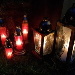 Herdenking windlichten