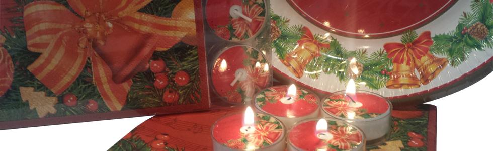 Kerstservet & theelicht