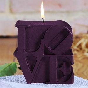 LOVE letters kaars