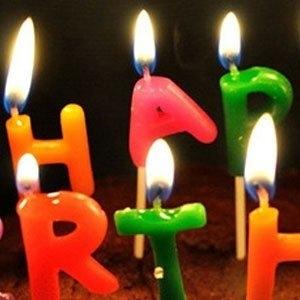 Verjaardag taartkaarsjes