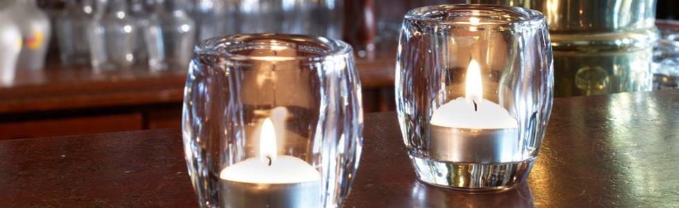 Waxinelicht glaasjes