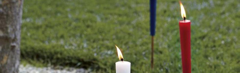 Tuinfakkel kaarsen