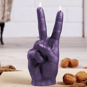 Wijs - middelvinger V PEACE kaars