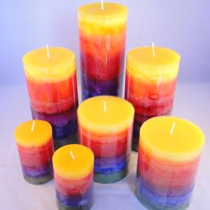 Regenboog kaarsen