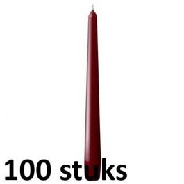100 stuks witte gotische kaarsen 25 cm lengte, als voordeel verpakking