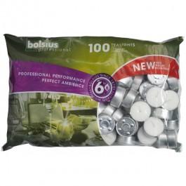 100 stuks witte 6 uur waxinelichtjes 21/38 Bolsius