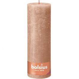 Bolsius caramel bruin rustiek stompkaarsen 300/100 (200 uur) Eco Shine Creamy Caramel