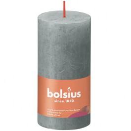 Bolsius eucalyptus groen rustiek stompkaarsen 100/50 (30 uur) Eco Shine Eucalyptus Green