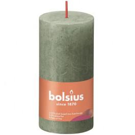Bolsius olijfgroen rustiek stompkaarsen 100/50 (30 uur) Eco Shine Fresh Olive