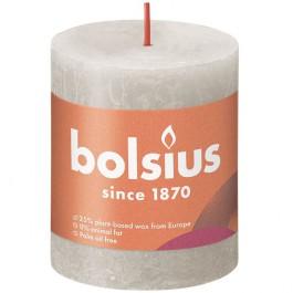 Bolsius lichtgrijs rustiek stompkaarsen 80/68 (35 uur) Eco Shine Sandy Grey
