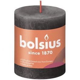 Bolsius antraciet rustiek stompkaars 80/68 (35 uur) Eco Shine Stormy Grey