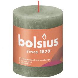 Bolsius olijfgroen rustiek stompkaars 80/68 (35 uur) Eco Shine Fresh Oliv