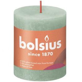 Bolsius sage groen rustiek stompkaars 80/68 (35 uur) Eco Shine Sage Green