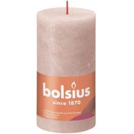 Bolsius poeder roze rustiek stompkaarsen 130/68 (60 uur) Eco Shine Misty Pink