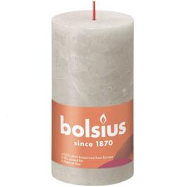 Bolsius lichtgrijs rustiek stompkaarsen 130/68 (60 uur) Eco Shine Sandy Grey