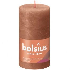 Bolsius terracotta rustiek stompkaarsen 130/68 (60 uur) Eco Shine Rusty Pink