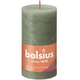 Bolsius olijfgroen rustiek stompkaarsen 130/68 (60 uur) Eco Shine Fresh Olive