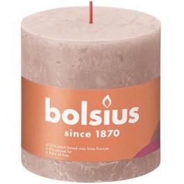 Bolsius poeder roze rustiek stompkaarsen 100/100 (62 uur) Eco Shine Misty Pink