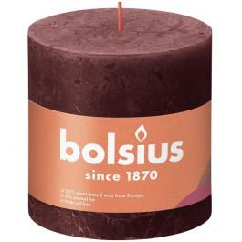 Bolsius wijnrood rustiek stompkaarsen 100/100 (62 uur) Eco Shine Velvet Red