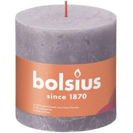 Bolsius paars rustiek stompkaarsen 100/100 (62 uur) Eco Shine Frosted Lavender