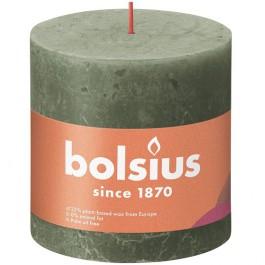 Bolsius olijfgroen rustiek stompkaarsen 100/100 (62 uur) Eco Shine Fresh Olive