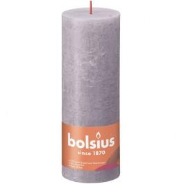 Bolsius paars rustiek stompkaars 190/68 (85 uur) Eco Shine Frosted Lavender