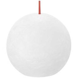 Bolsius wit rustiek bolkaars Ø 76 mm (25 uur) Eco Shine Cloudy White