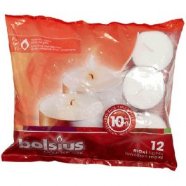 12 stuks witte 10 uur maxi waxinelichten 24/58 Bolsius