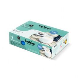 6 stuks blauw twilights lowboys van Bolsius in voordeel verpakking