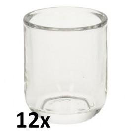 12 stuks bolsius moods glas voor refills