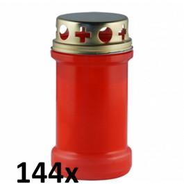 144 stuks rode graflichten nr. 3 met deksel