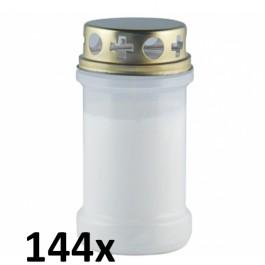 144 stuks witte transparante graflichten nr. 3 met deksel