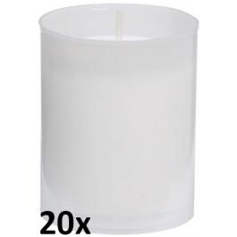 20 stuks Bolsius relight kaars in wit kunststof kaarsenhouder, voordeel verpakking