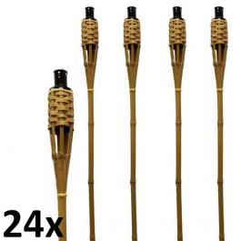 24 stuks bruine bamboe fakkels lengte 120 cm