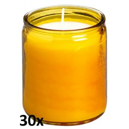30 stuks amber transparante star lights van Bolsius in voordeel verpakking