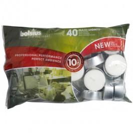40 stuks witte 10 uur maxi waxinelichten 24/58 Bolsius professional