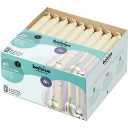 45 stuks Bolsius ivoor kandelaar huishoudkaarsen 180/21