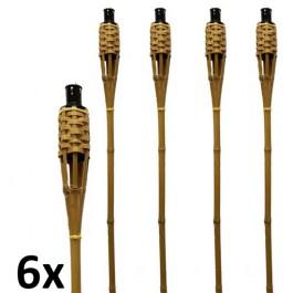 6 stuks bruine bamboe fakkels lengte 120 cm