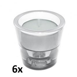 6 stuks multi kaarsenhouders als voordeel verpakking