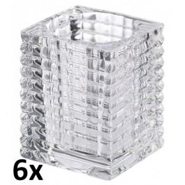 6 stuks glazenhouders voor refill en theelichtjes
