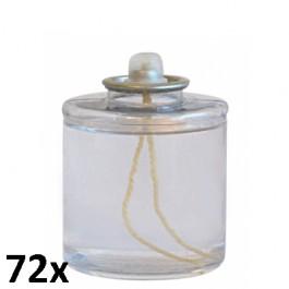 72 stuks 24 uurs liquid wax oliekaarsen 60/51 voor in de horeca als voordeelverpakking