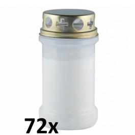 72 stuks witte transparante graflichten nr. 3 met deksel