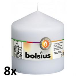 8 stuks witte stompkaarsen 100/100 van Bolsius extra goedkoop in een voordeel verpakking