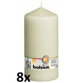 8 stuks ivoor stompkaarsen 200/100 van Bolsius extra goedkoop in een voordeel verpakking