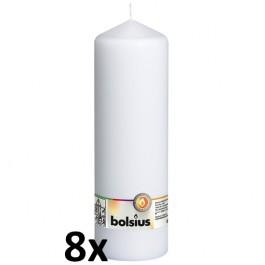 8 stuks witte stompkaarsen 250/80 van Bolsius extra goedkoop in een voordeel verpakking